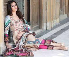 Zahra Ahmad Spring Summer Lawn Collection 2015 Buy Online