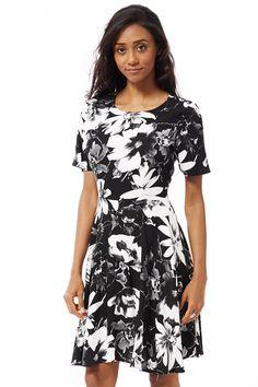 ScottyDirect - Flower Print Skater Dress, $44.95 (http://www.scottydirect.com/flower-print-skater-dress/)