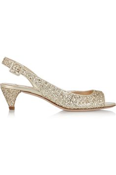 MIU MIU Glittered Twill Sandals. #miumiu #shoes #sandals