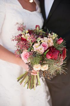 Crimson and Pink Bouquet | photography by http://brookebakken.com