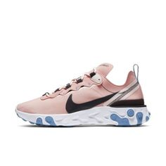The Nike React Element 55 Women's Shoe borrows design lines from heritage Nike runners like the Internationalist, adds reflective graphics and then places it all on Nike React technology. Nike Air Vapormax, Moda Nike, Nike Mode, Nike Runners, Nike Internationalist, Womens Clearance, Everyday Shoes, Nike Fashion, Shoes