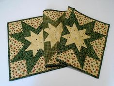 Christmas Stars Quilted Table Runner Country Christmas