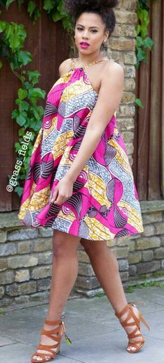 ♡The Loulou Dress www.grass-fields.com ~African fashion, Ankara, kitenge, African women dresses, African prints, African men's fashion, Nigerian style, Ghanaian fashion ~DKK