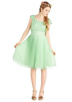 NWOT Geode mint green dress, Modcloth Walking by the Water XL #Geode #EmpireWaist #Cocktail