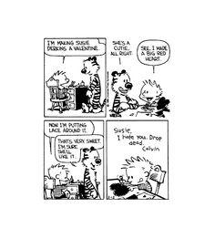 Quando eu crescer, eu vou ser que nem o Calvin.