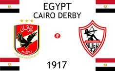 1917, Egypt (1st THE CAIRO DERBY), Al Ahly SC < > Zamalek SC #AlAhlySC #ZamalekSC #Egypt (L16403)