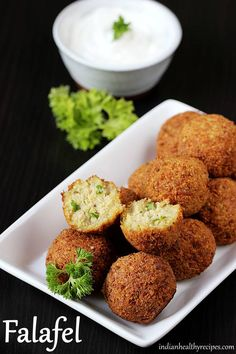Falafel recipe - Deep fried snack from the middle eastern cuisine. Learn how to make falafel using chickpeas with step by step photos Gujarati Recipes, Lebanese Recipes, Greek Recipes, Veggie Recipes, Real Food Recipes, Vegetarian Recipes, Cooking Recipes, Israeli Recipes, Gujarati Food