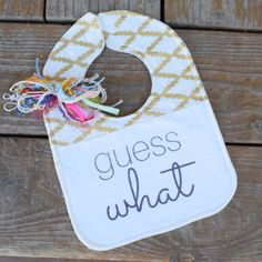 Pregnancy announcement idea guess what were pregnant by BigSkyBibs
