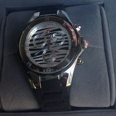 Michele Tahitian zebra jelly watch Preowned see description in comments Michele tahitian Accessories Watches