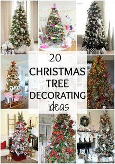 20 Amazing Christmas Tree Decorating Ideas via A Blissful Nest. See more at http://ablissfulnest.com/ #christmasdecorating #christmastree