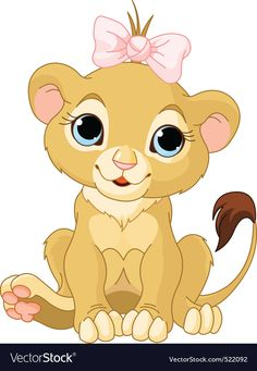 Find A cute Cartoon Lion King stock images in HD and millions of other royalty-free stock photos, illustrations and vectors in the Shutterstock collection. Thousands of new, high-quality pictures added every day. Clipart Baby, Vector Clipart, Cute Cartoon, Cartoon Styles, Girl Cartoon, Cartoon Mignon, Baby Animals, Cute Animals, Female Lion