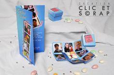 """Faire part mariage Clic et Scrap """"Photomaton"""""""