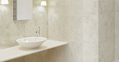 Clean and chic. #bathroomtiles