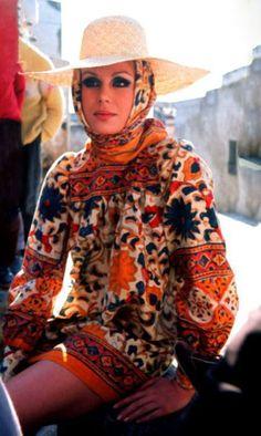 Joanne Lumley wearing Jean Muir 1970's