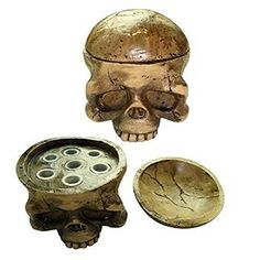 TRUE STAR Hard Resin Bone-effect Skull Tattoo Ink Cap Cup Holder tattoo supply Tommy Hilfiger - Also hold essential oils! http://www.amazon.com/dp/B0140TCV7G/ref=cm_sw_r_pi_dp_63hbxb0QVHMD5