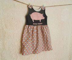 Upcycled Pink Floyd kids band tee dress on Etsy, $55.00