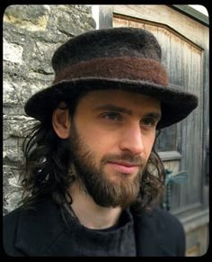 MADE to ORDER - ARtWeAR Trilby fedora classic felt hat - men mens women  unisex - 85acfa6e8d9