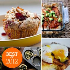 A Look Back: 41 Healthy Breakfast Recipes We Cooked Up This Year-- sometimes there are just great ideas for healthy  food out there that I don't have to dream up in my own kitchen.  There are a few gems in here but you def. need to skip a few!