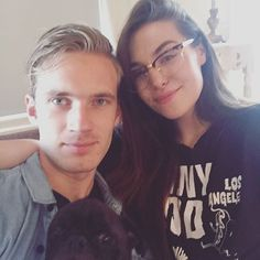 "Everybody on the YT comment section is going crazy asking ""where is pewds"", ""did they break up""?! Nope. Still together, no reason to worry."