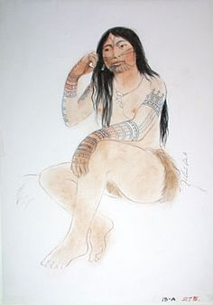 Inuit women often underwent painful tattooing in the belief that they would not find peace in the afterlife without tattoos.Credit: Atelier Frédéric Back.