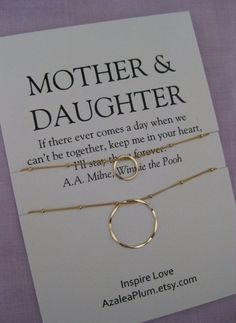 Mother DAUGHTER Jewelry. 50th birthday Gift by shopAzaleaPlum