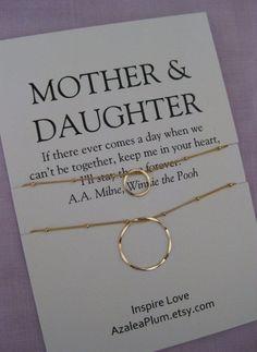 Mother DAUGHTER Jewelry. 50th birthday Gift by shopAzaleaPlum