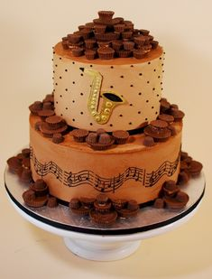 Cup a Dee Cakes Blog: Saxophone Music Lover Cake