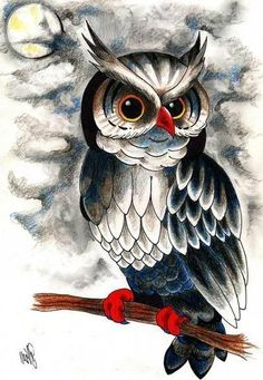 Wall – My Wallpapers Page Owl Tattoo Drawings, Owl Tattoo Design, Different Birds, Bird Quilt, Owl Pictures, Great Horned Owl, Truck Art, Bird Silhouette, Black And White Painting
