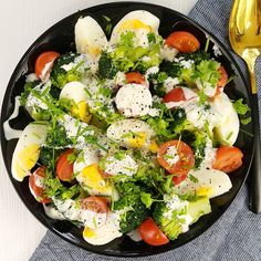 High Carb Diet, Cooking Recipes, Healthy Recipes, Healthy Food, What To Cook, No Carb Diets, Cobb Salad, Salad Recipes, Salads