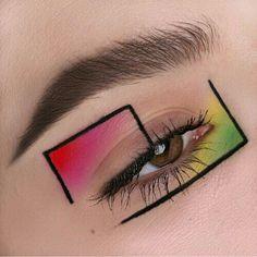 Screen creative Eye Makeup Concepts Augen Make-up> Gesicht Kunst> Farbe Formen Makeup Eye Looks, Eye Makeup Art, Colorful Eye Makeup, Crazy Makeup, Cute Makeup, Makeup Inspo, Eyeshadow Makeup, Makeup Inspiration, Under Eye Makeup