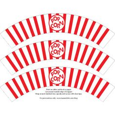 Free Popcorn Cupcake Wrappers | ... together. Place the already baked cupcakes into the Popcorn Wrappers
