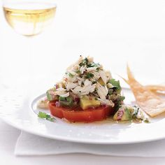 Chile-Lime Crab Salad with Tomato and Avocado | The mix of fresh crab, avocado and juicy heirloom tomatoes here is a classic combination.
