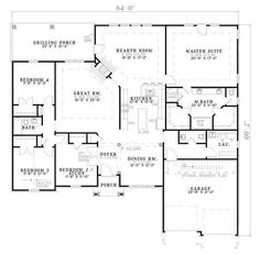 Love the floor plan, don't like the exterior. Flip garage openings to side and make more craftsman in styling. Make dining room a library and study a craft/hobby room.