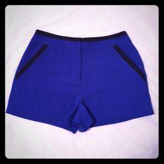 Lush Blue/Black Shorts Royal blue shorts with black detail. Worn no more than three times. Lush Shorts