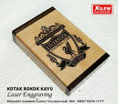 Wooden box for ciggarete case with custom laser enggrave