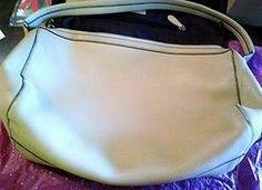 Vintage Cole Hann Hobo Pebbled Leather hobo beige