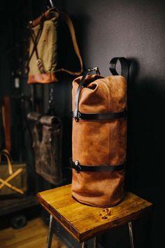 Duffel Pack by Kruk Garage Duffel bag Travel bag Leather men's bag Large bag Leather duffle bag Week Duffle Bag Travel, Weekender, Travel Bags, Travel Packing, Duffel Bags, Bali Travel, Travel Luggage, Travel Usa, Minimalist Bag