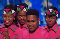 The proudly South African Youth Choir at the America's Got Talent quarter finals. Be sure to watch the replay video on You tube to be truly inspired ! #AGT #youth_choir #South_Africa #beautiful_day #pink #jewellery #African_street_style