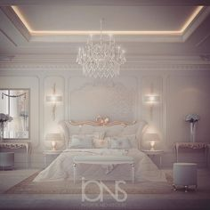 Luxury interior Design Company in Dubai UAE .IONS DESIGN one of the leading interior design Firms with world class designers.provides home designs , commercial retail and office designs Grey Bedroom Decor, Bedroom Green, Bedroom Sets, 60s Bedroom, Bedroom Wall, Luxury Decor, Luxury Interior, Interior Design, Contemporary Bedroom