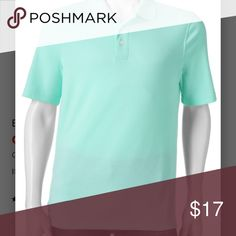Men's Croft & Barrow Signature Polo PRODUCT FEATURES •Soft touch finish •Easy Care, lightweight comfortable fabric •3-button placket •Short sleeves FIT & SIZING •Classic fit features relaxed arm holes, regular body and traditional sleeve openings FABRIC & CARE •Cotton, polyester •Machine wash •Imported  Color is Angel Blue croft & barrow Shirts Polos