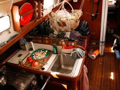 Sailing provisions on a boat - food (fresh and pantry). Good info!