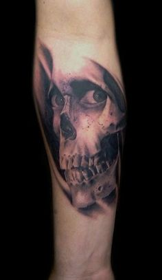 Super detailed Evil Dead tattoo