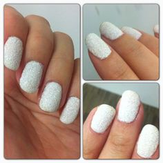 The Sugar Manicure: Get the look using just plain transparent white glitter and white polish
