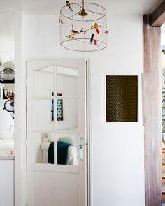 light fixture - Paris Apartment & Photo Styling Secrets (via Rue mag) Paris Apartments, Small Apartments, Parisian Apartment, Attic Apartment, Small Spaces, Parisian Kitchen, Small Apartment Kitchen, Loft, Luxury Kitchens