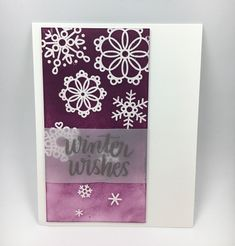 I am writing this post to share with you all the Christmas & winter cards I made 2018 Purple Christmas, Christmas Snowflakes, Christmas Cards 2018, Winter Wonder, Winter Cards, Craft Supplies, Writing, Handmade, Crafts
