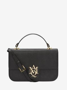 Shop Women's Insignia Large Satchel from the official online store of iconic fashion designer Alexander McQueen.
