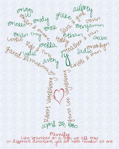Family Tree - I really like this!