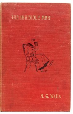 The Invisible Man (1897) by H.G. Wells, first edition book cover
