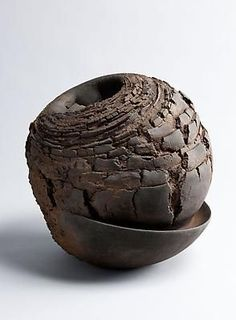 Untitled MV-112, 2011 Stoneware with iron-filings 14 1/4 x 14 5/8 x 14 5/8 inches Inv# 6898 SOLD: