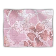 Kess InHouse Catherine Holcombe Flower Power Pink Pet Blanket 50 by 60Inch Map * Want additional info? Click on the image.